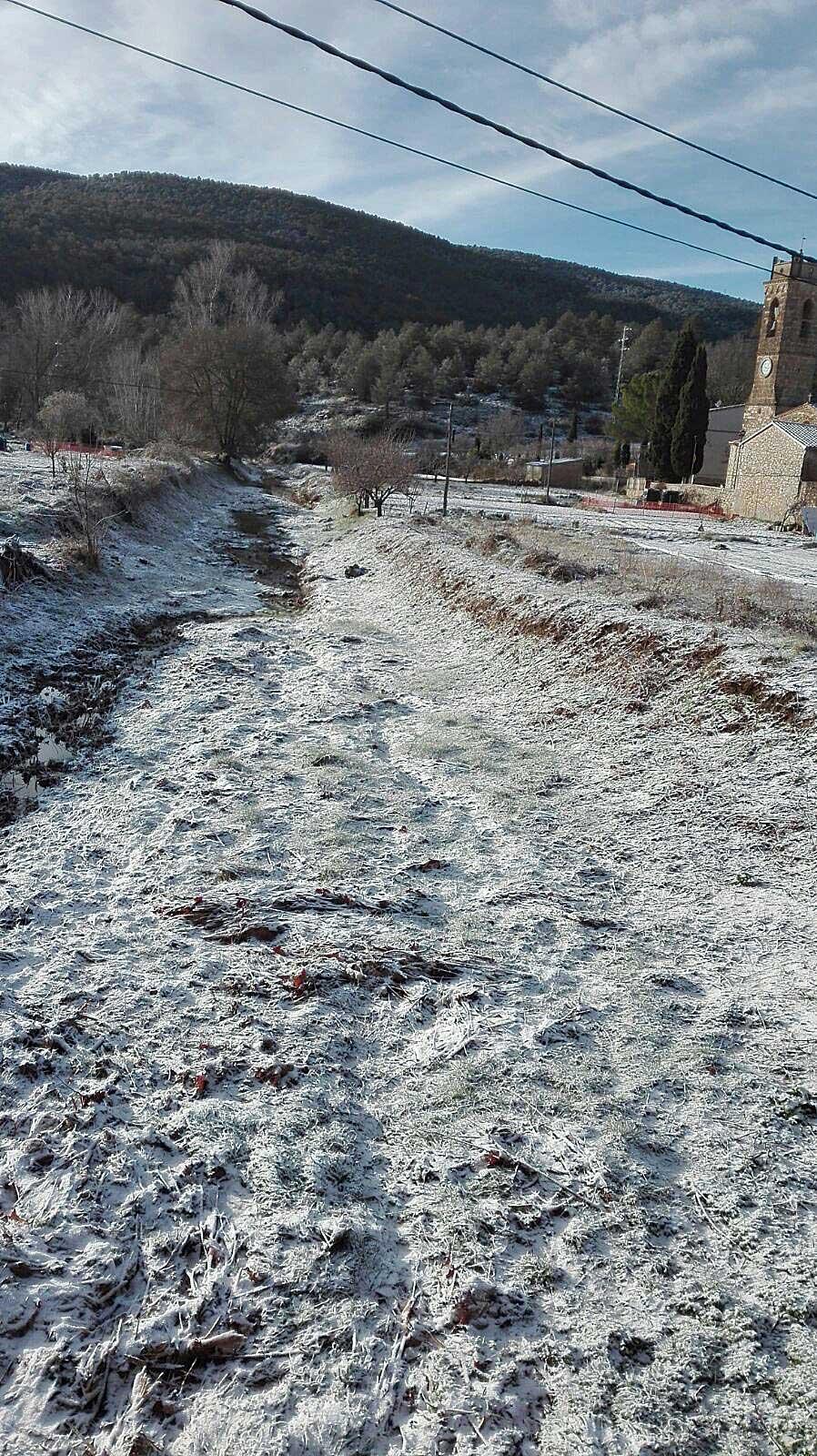 Neu a Sant Joan de Mediona.