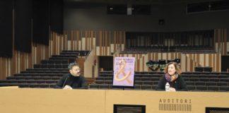 Dani Poveda, director del Vida Festival, i Adelaida Moya, regidora de Cultura de l'Ajuntament de Vilanova