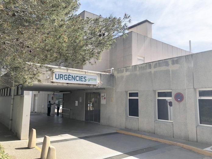 Exterior d'urgències de l'Hospital Sant Camil